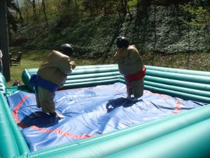 Sumo Wrestling inflatable safety ring big2